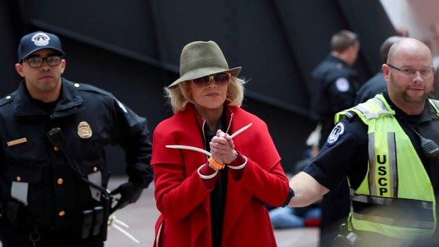 Jane Fonda under arrest again