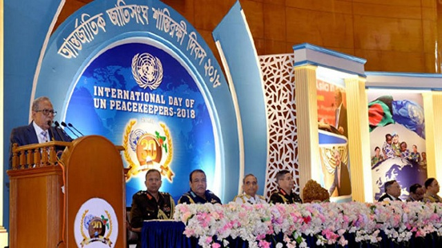 President asks peacekeepers to uphold
