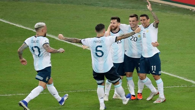 Argentina set up Brazil