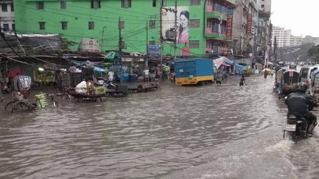 Rain disrupts life in Dhaka