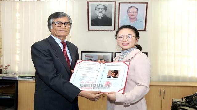 'Best Poet Award' handed over to DU Pro-VC