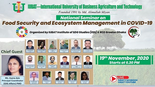 National Seminar on Food Security and Ecosystem Management held at IUBAT