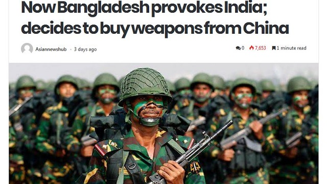 Indian media again spreads lies over BD