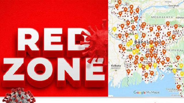 Red zones imposed in three more districts with general holidays