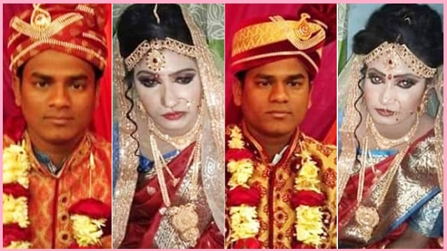 Tangailn: Twin brothers marry twin sisters!